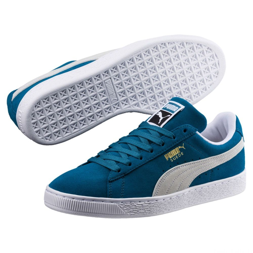 Suede Classic Couleur Ocean Depths-Puma White