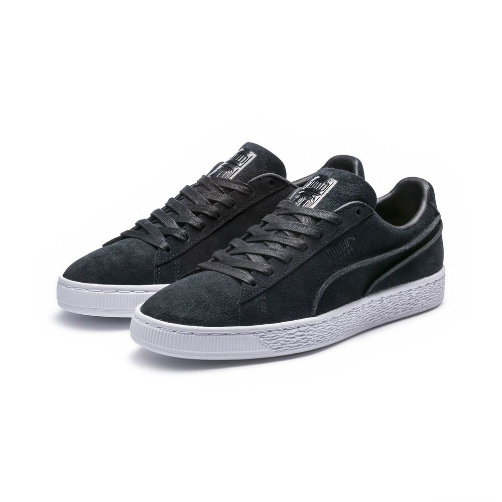 Basket Suede Classic Exposed Seams Couleur Puma Black