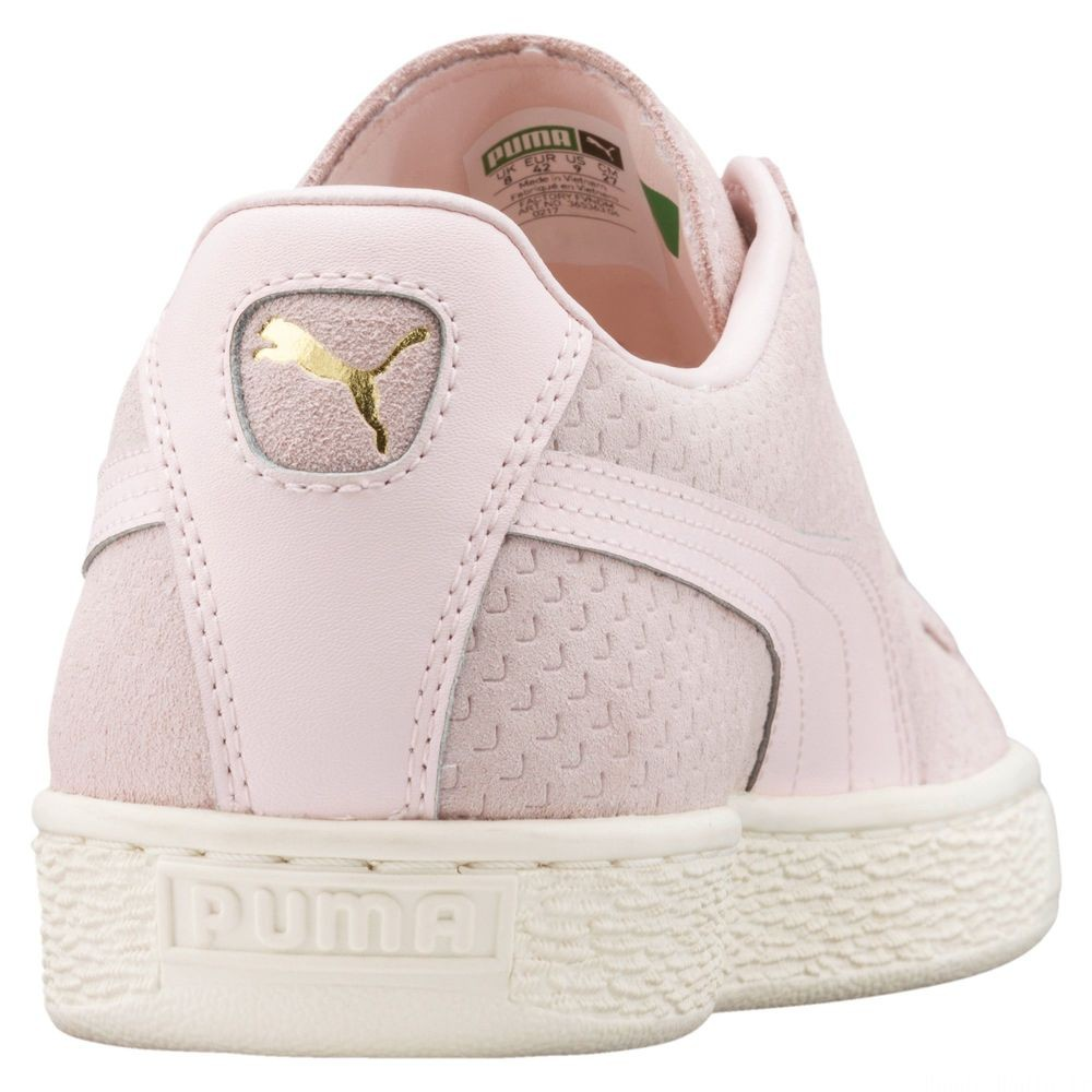 Basket Suede Classic Perforation Couleur Pearl-Whisper White