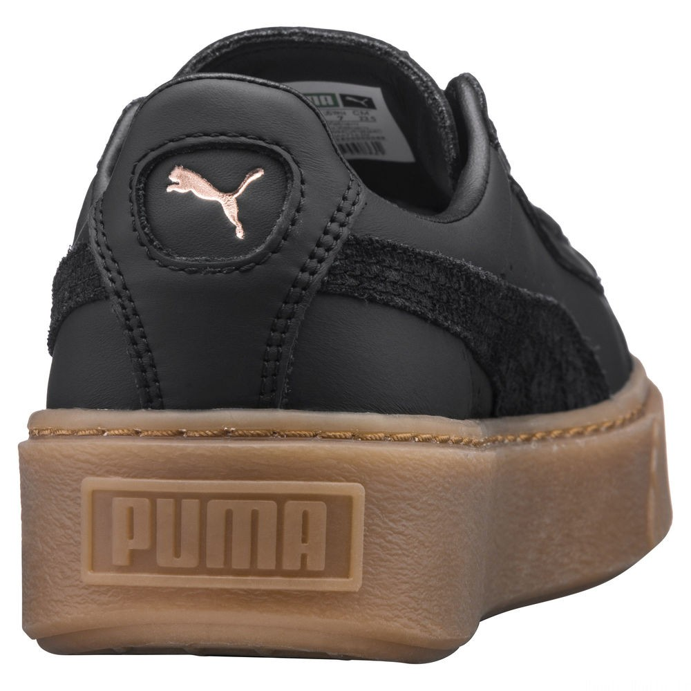 Basket Platform Euphoria Gum Couleur Puma Black-Rose Gold