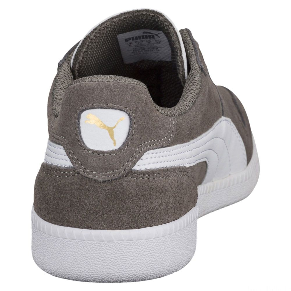 Basket Icra Suede Couleur Steel Gray-Puma White