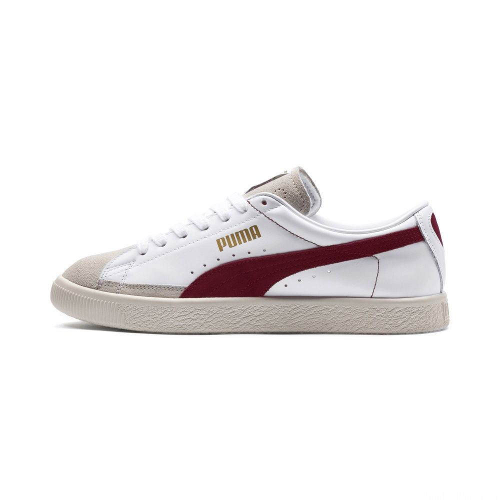 Basket 90680 Couleur Puma White-Pomegranate