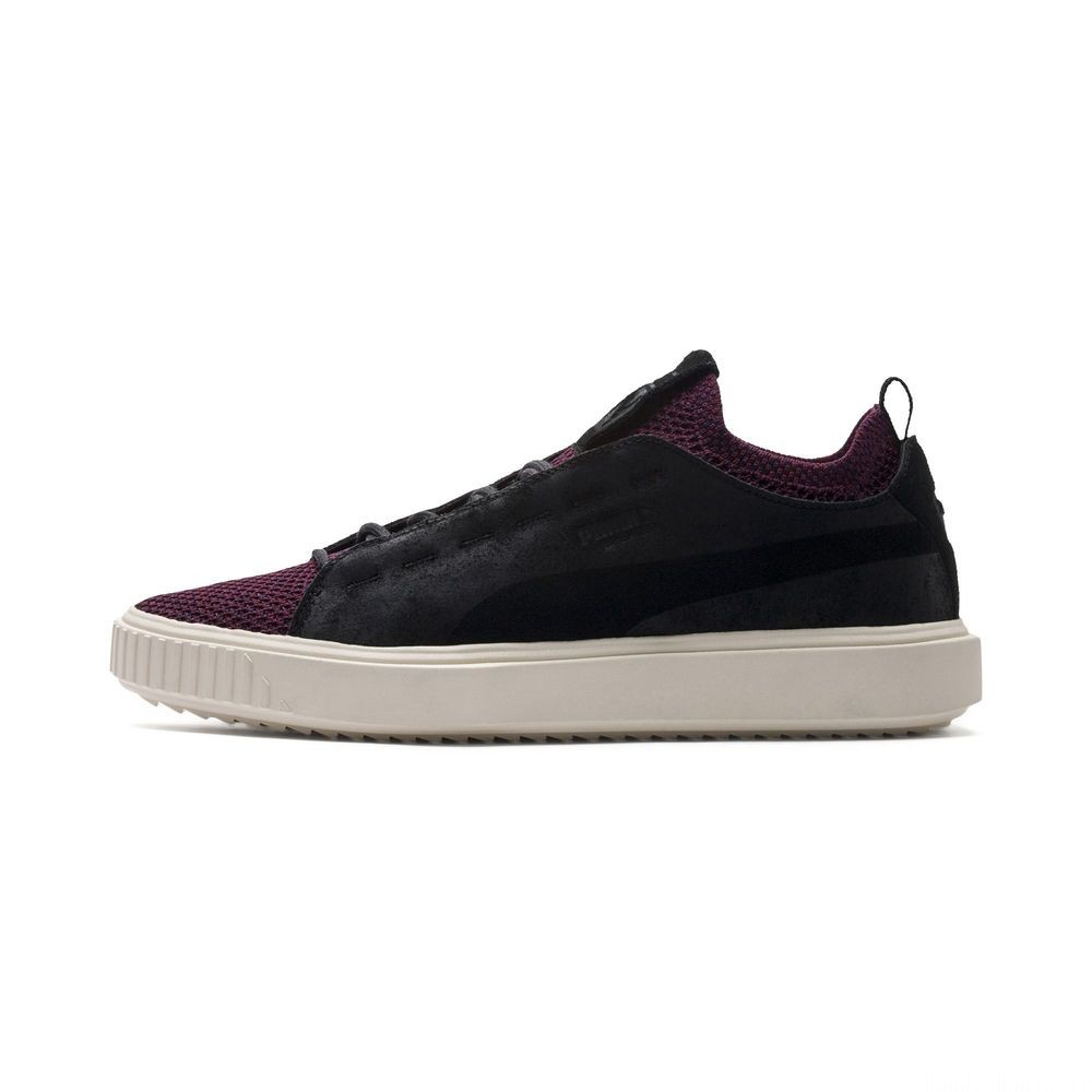 Basket Breaker Knit Baroque Evolution Couleur Puma Black-Whisper White