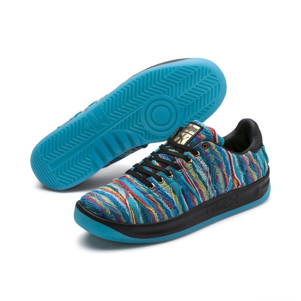 Basket PUMA x COOGI California Multi Couleur Blue Atoll-Puma Black