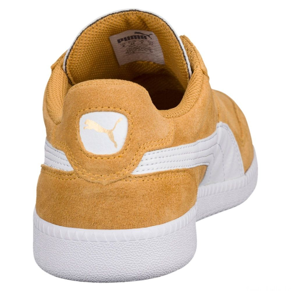 Basket Icra Suede Couleur Honey Mustard-Puma White