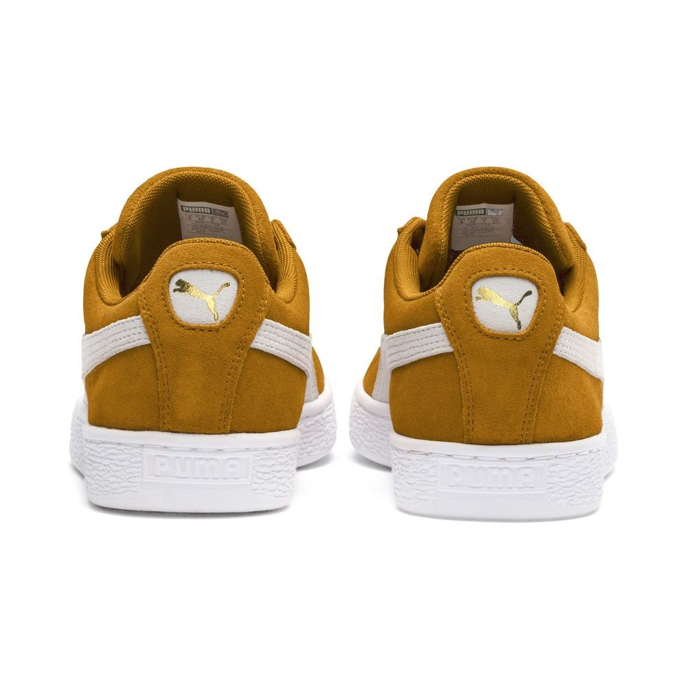 Suede Classic Couleur Buckthorn Brown-Wht- Wht