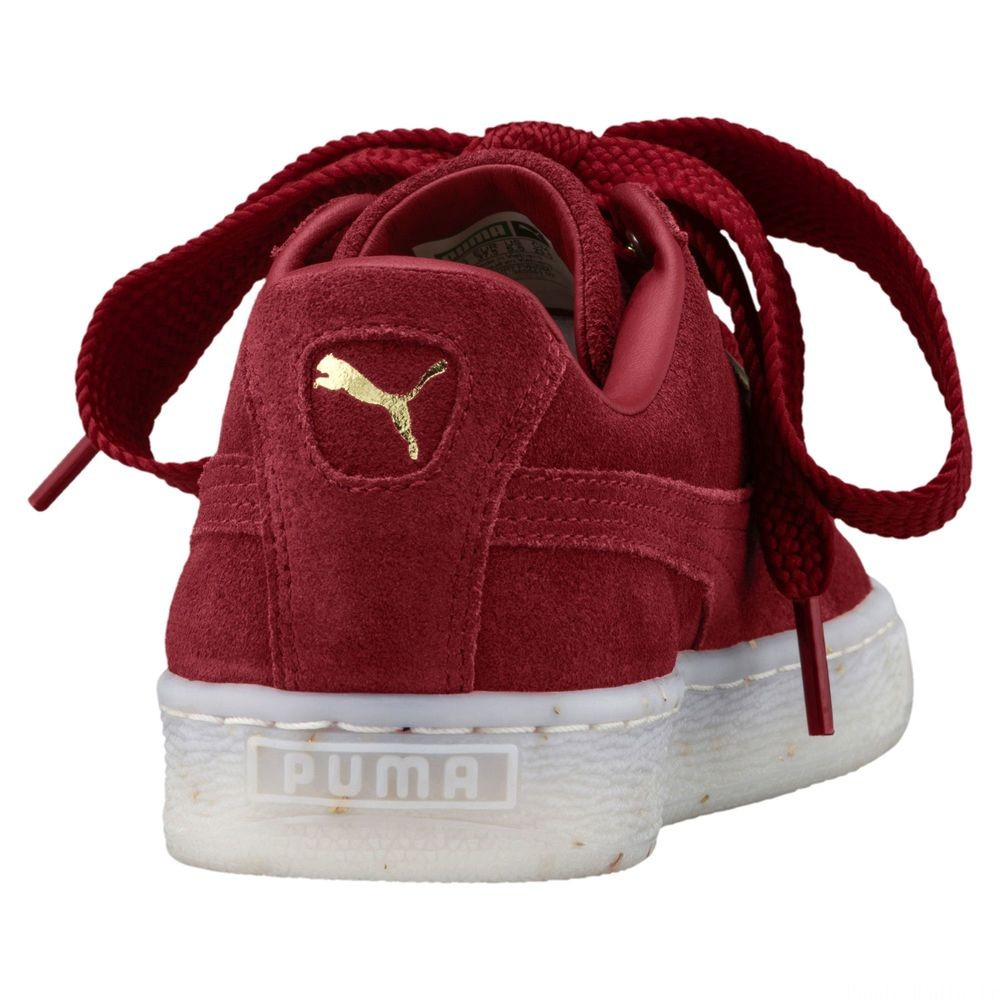 Basket Suede Heart Celebrate pour femme Couleur Red Dahlia-Red Dahlia
