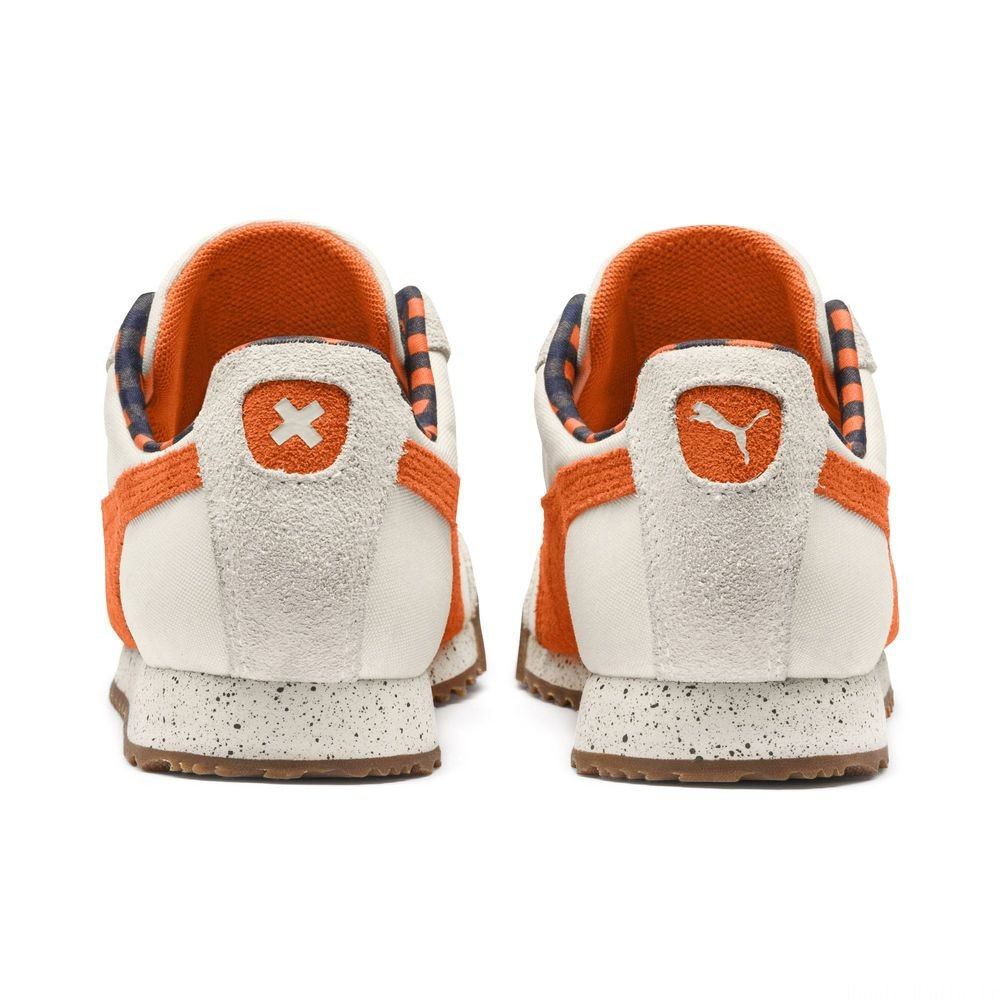 Basket PUMA x TINYCOTTONS Roma LDN pour enfant Couleur White Asparagus-Orange-Blue