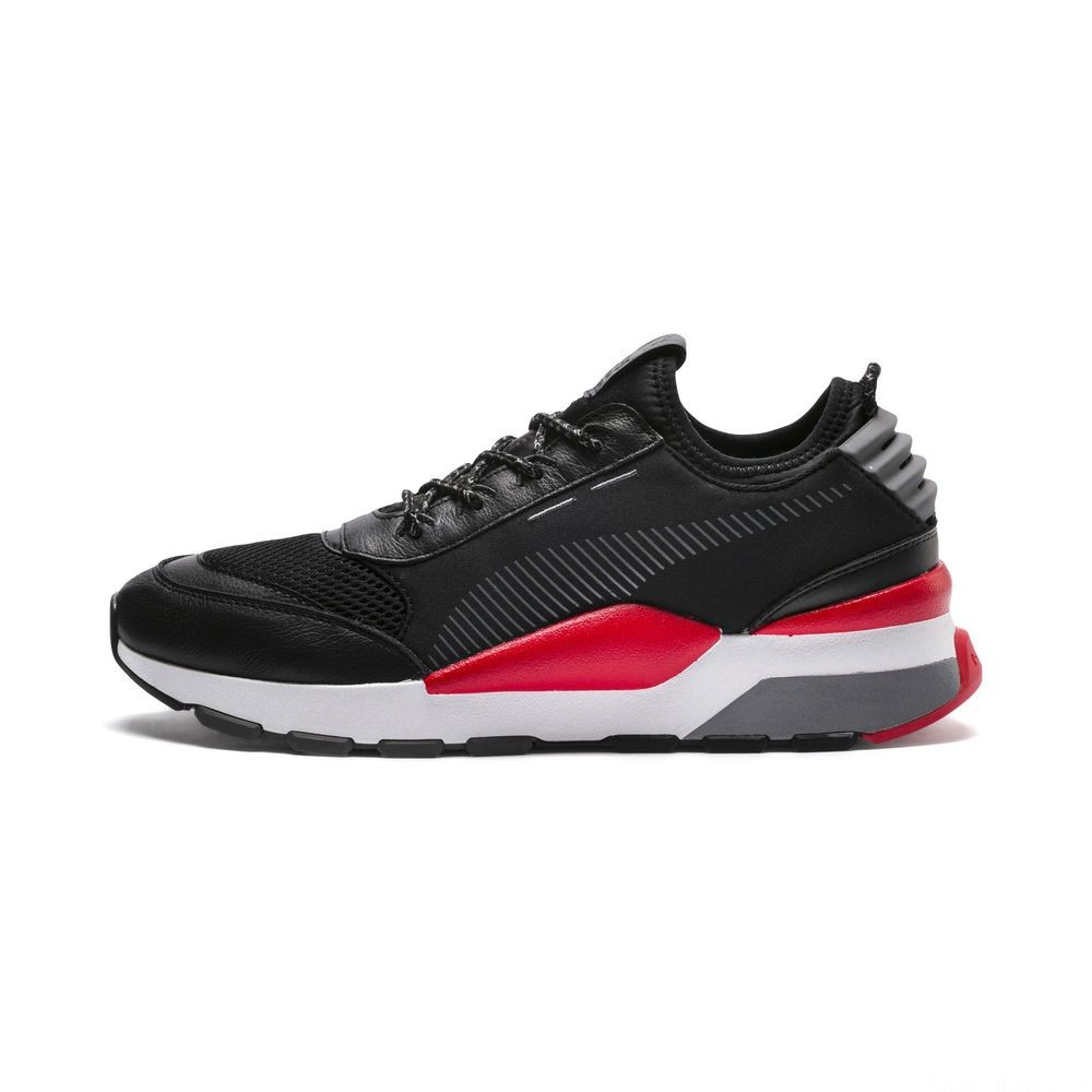 Basket RS-0 PLAY Couleur Black-HighRiskRed-White